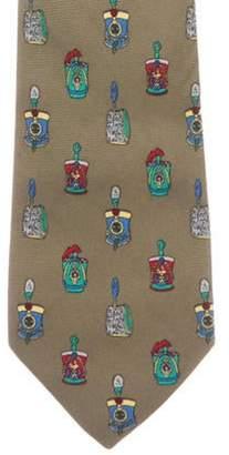 Chanel Silk Jacquard Tie olive Silk Jacquard Tie