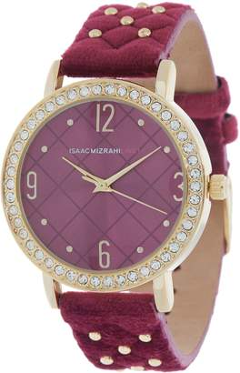 Isaac Mizrahi Live! Studded Velvet Cushion Strap Watch