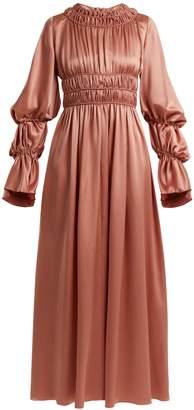 Roksanda Zoya gathered silk-satin dress