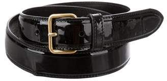 Miu Miu Patent Leather Waist Belt
