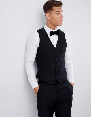 French Connection Slim Fit Peak Collar Tuxedo Vest