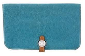 Hermes Bi-Color Togo Dogon Wallet