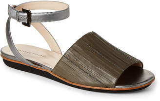 Fabiana Filippi Claire Pleated Leather Ankle Strap Sandals