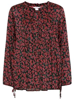 Velvet Dalary floral-printed top