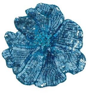 Racil - Sequin Flower Brooch - Womens - Blue