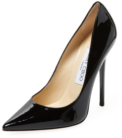 Jimmy Choo Anouk Patent Leather Pointed-Toe Pump