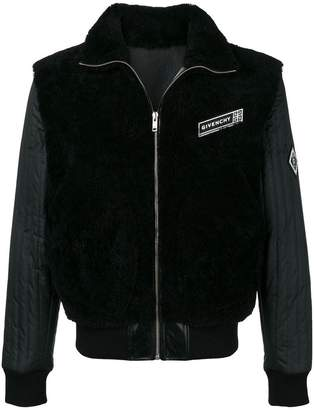 Givenchy quilted sleeve bomber jacket