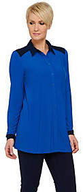 Linea by Louis Dell'Olio Moss Crepe ButtonFront Shirt