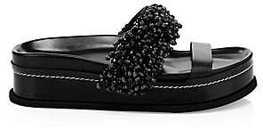 3.1 Phillip Lim Women's Freida Beaded Platform Slides Sandals
