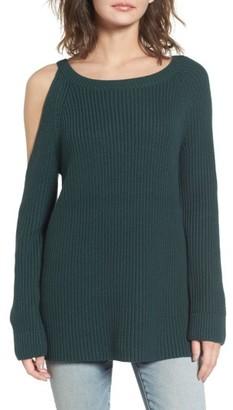 Women's Treasure & Bond Asymmetrical Cold Shoulder Sweater $89 thestylecure.com