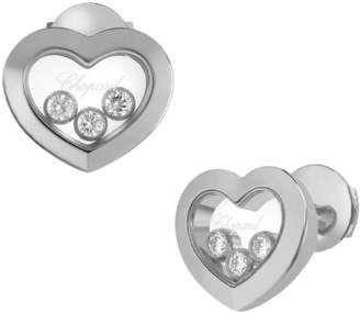 Chopard Happy Diamonds 18ct White Gold Icons Earrings