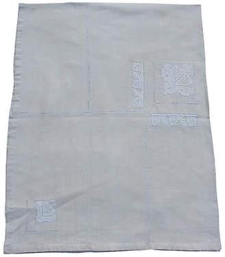 One Kings Lane Vintage Irish Linen Tablecloth