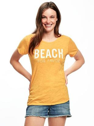 EveryWear Graphic Curved-Hem Tee for Women $14.94 thestylecure.com