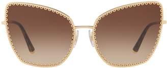 Dolce & Gabbana Scallop Cat Eye Sunglasses