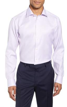 Eton Slim Fit Textured Solid Dress Shirt