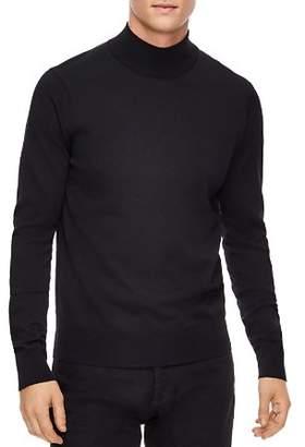 Sandro Industrial Wool Mock Neck Sweater