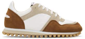 Spalwart White and Tan Marathon Trail Low Sneakers