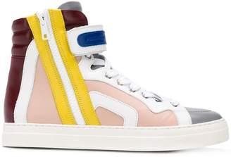 Pierre Hardy hi-top colour block sneakers