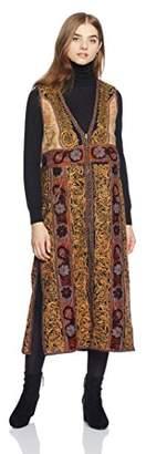 goa (ゴア) - [goa] India Folklore Embroidery ジレワンピース 21746065 ブラック 日本 Free-(日本サイズM相当)