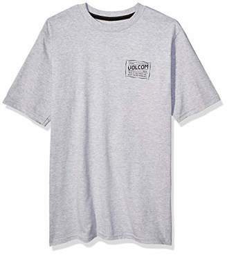 Volcom Men's Road Test Basic Fit Short Sleeve Tee, Heather Grey, Extra