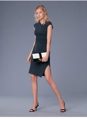 Diane von Furstenberg Cap Sleeve Ruched Jersey Dress