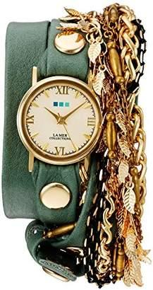 La Mer Women's Quartz Gold-Tone and Leather Watch