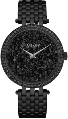 Carvelle New York by Bulova Women's Black Stainless Steel Bracelet Watch 38mm 45L147 $150 thestylecure.com