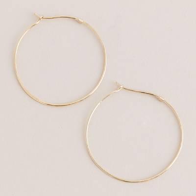 Golden circle hoop earrings