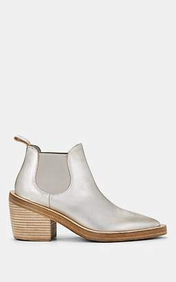 Marsèll Women's Metallic Leather Ankle Boots - Silver