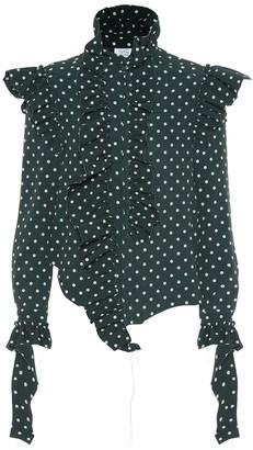 Vetements Polka dot crepe shirt