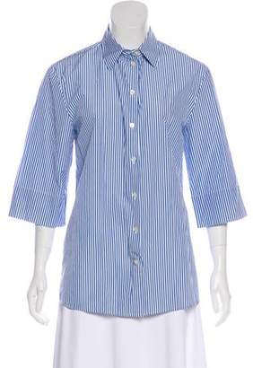 Michael Kors Striped Button-Up Top