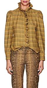 Etoile Isabel Marant Women's Dules Checked Cotton Flannel Blouse