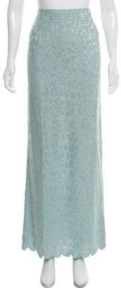 St. John Embellished Knit Maxi Skirt