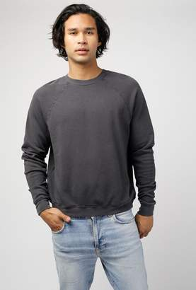 Les Tien Crew Neck Raglan French Terry Sweater
