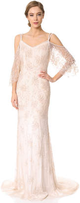 Theia Layla Off the Shoulder Slip Gown $1,975 thestylecure.com