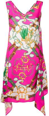 P.A.R.O.S.H. satin scarf detail dress