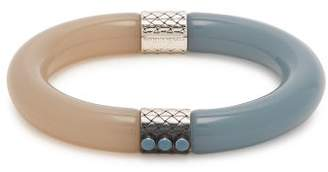 Bottega Veneta Two Tone Resin Bracelet - Womens - Blue