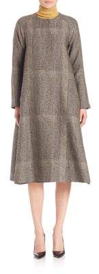 Creatures of the Wind Herringbone Plaid Swing Coat