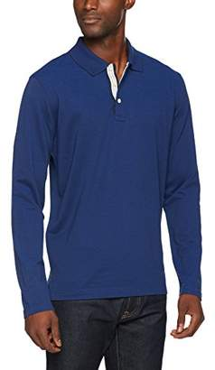 Brooks Brothers Men's Polo in Cotone Supima BLU Shirt, (Blue), Small