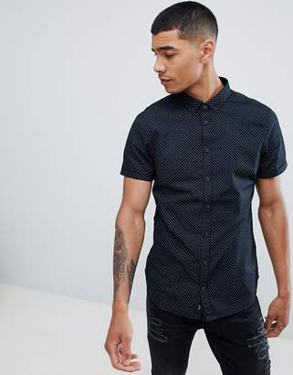 Blend of America short sleeve slim fit shirt with micro dot print