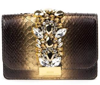 Gedebe Cliky Python Effect Shoulder Bag