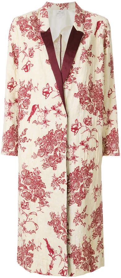 floral print coat