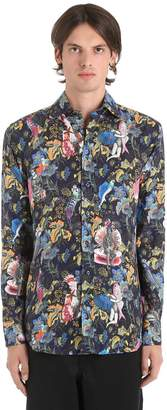 Etro Surreal Printed Fluid Linen Shirt
