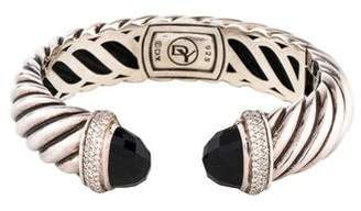 David Yurman Onyx & Diamond Waverly Bracelet