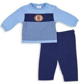 Florence Eiseman Baby Boy's Two-Piece Striped Sweater Set - Bright Blue - Size 18 Months