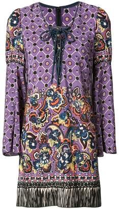 Anna Sui paisley print fringed dress