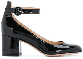 Gianvito Rossi mid heel ankle strap pumps