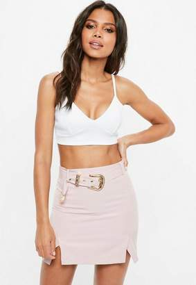 Missguided White Plain Cupped Bralette