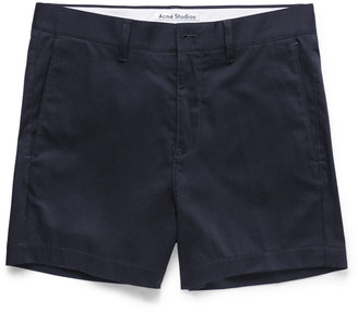 Acne Studios Seymour Satin Cotton-Blend Chino Shorts $180 thestylecure.com