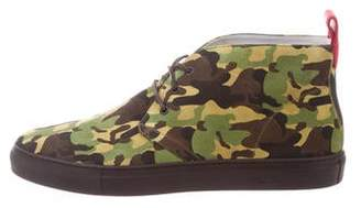 Del Toro Camouflage High-Top Sneakers w/ Tags